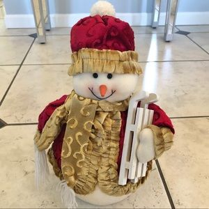 Other - ☃️ Stuffed Snowman with Sleigh